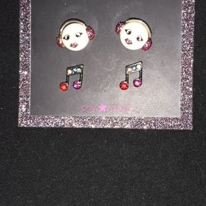 Betsey Johnson XOX TROLL EARRINGS